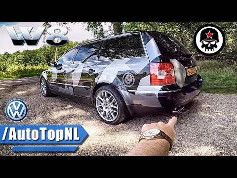 VW Passat W8 Review POV - GUERRILLA Exhaust - By AutoTopNL