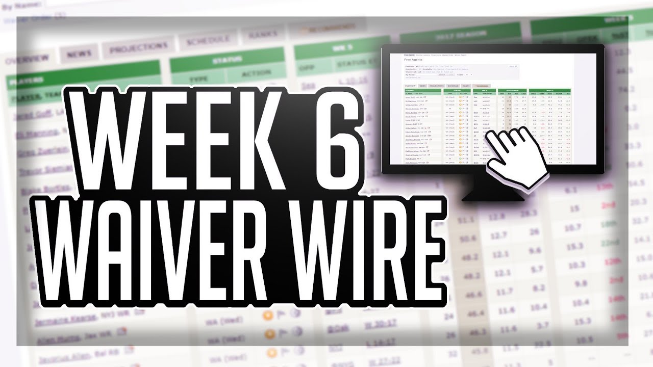 Contemporary Fantasy Football Week 6 Waiver Wire Model - The Wire ...