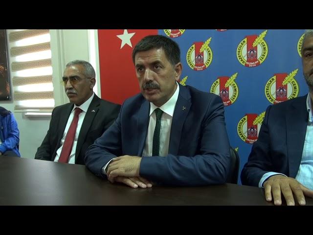 MHP Erzincan Milletvekili Adayı Bekir Aksun Gazeteciler Cemiyetini ziyaret etti