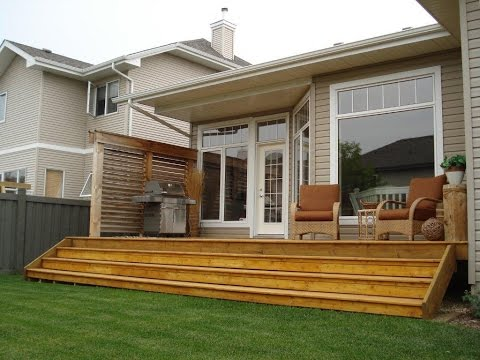 Video the best simple and affordable backyard deck for Simple back deck designs