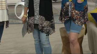 LOGO by Lori Goldstein Knit Vest with Printed Trim and Pockets on QVC(, 2017-07-29T04:56:55.000Z)