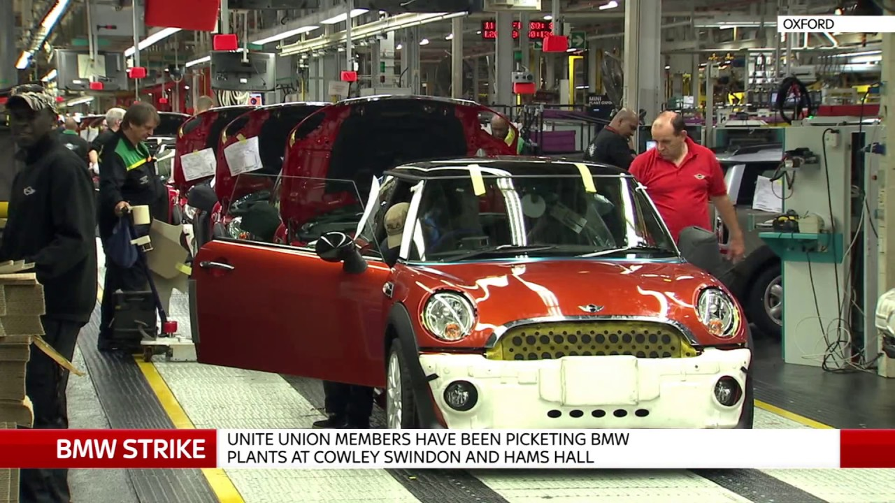 BMW workers are angry amid strike, says Unite union