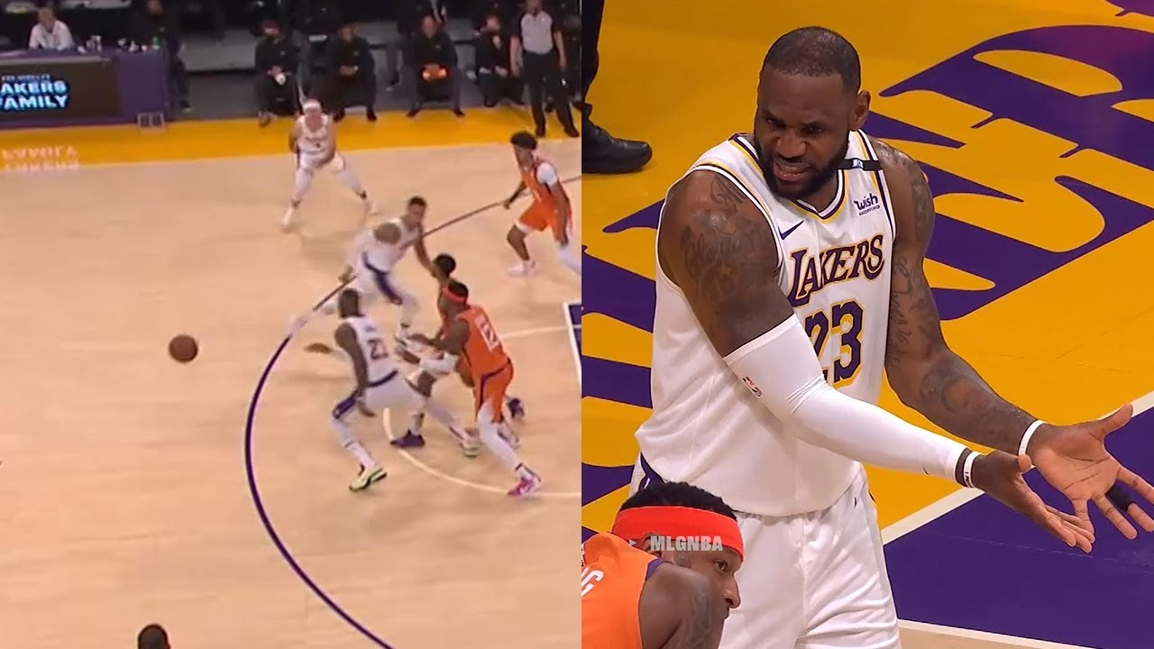 LeBron James attempted to pass to Kyle Kuzma, and was the first player to touch his own pass🤭