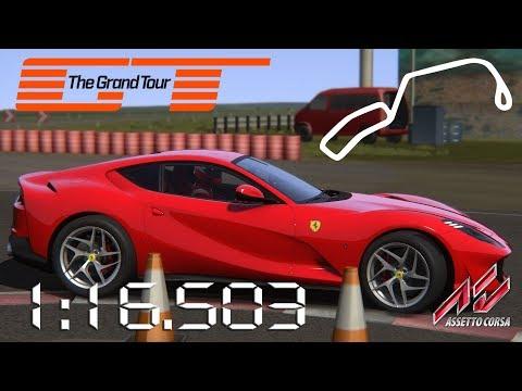 Assetto Corsa - 2017 Ferrari 812 Superfast - The Grand Tour EbolaDrome Lap Times - 1:16.503