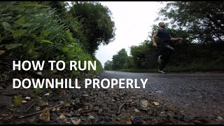 Barefoot running tutorial - how to run downhill properly - demonstrated in Vibram Five Fingers