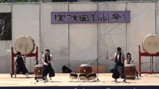 山木屋太鼓「山猿」さん(Ⅲ)@2012 常陸国YOSAKOI祭り