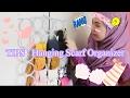DIY Hanging Scarf Organizer Cara Menggunakan Penyangkut Baju Mudah