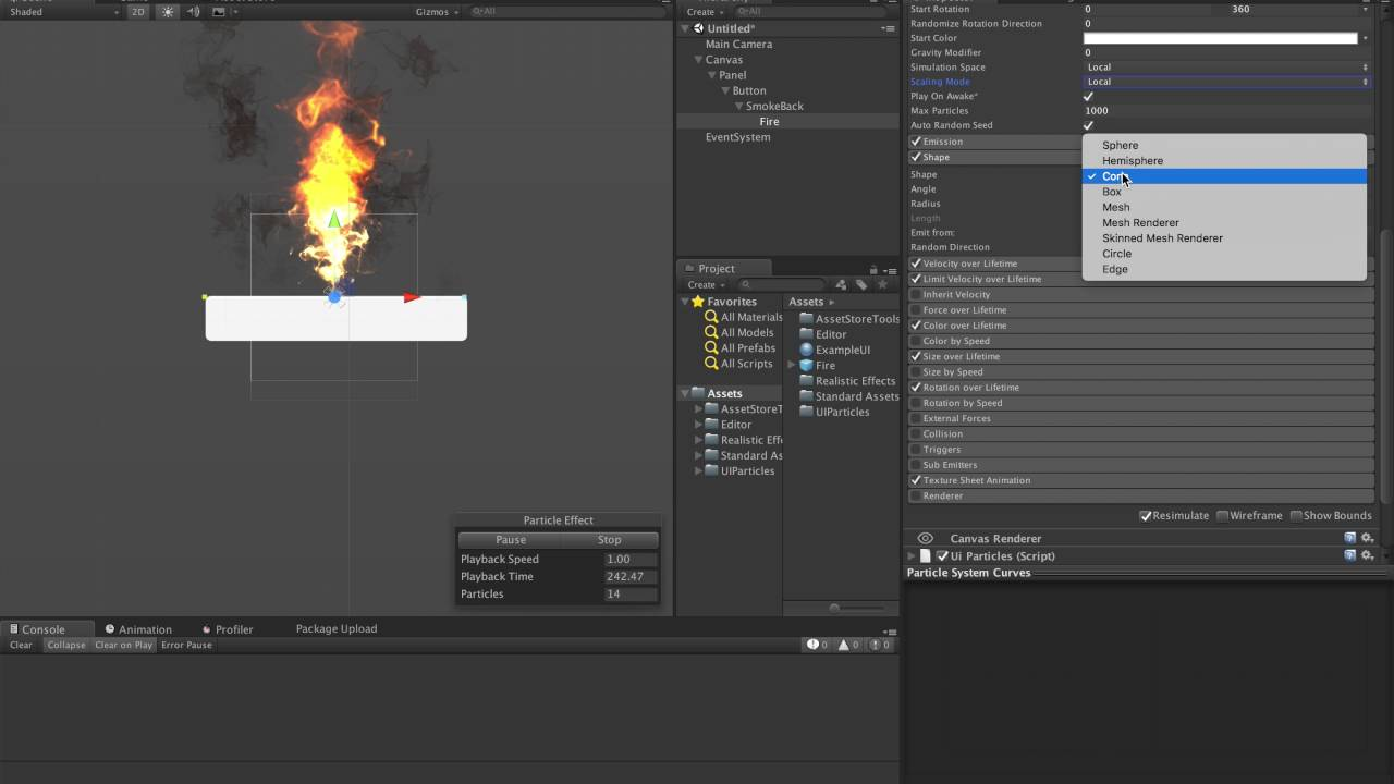 Unity3d UI Particles Tutorial