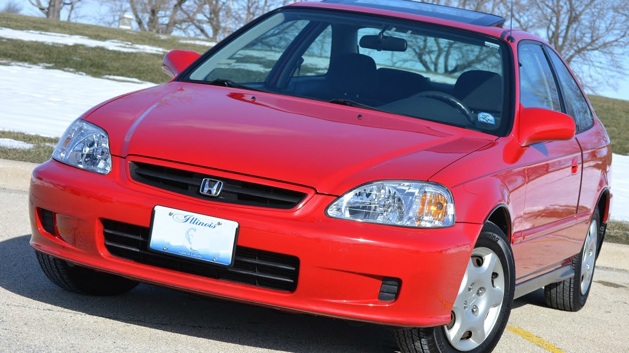 High Quality Super Mint 2000 Honda Civic EX Coupe! 32nd   YouTube