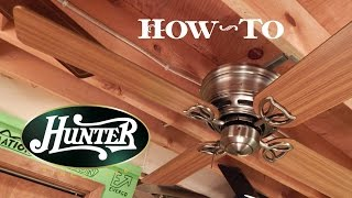 How To Install A Ceiling Fan | Hunter Low Profile III