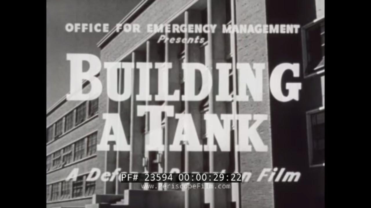BUILDING A TANK WWII M-3 MEDIUM TANK PRODUCTION DETROIT TANK ARSENAL & FORT  KNOX