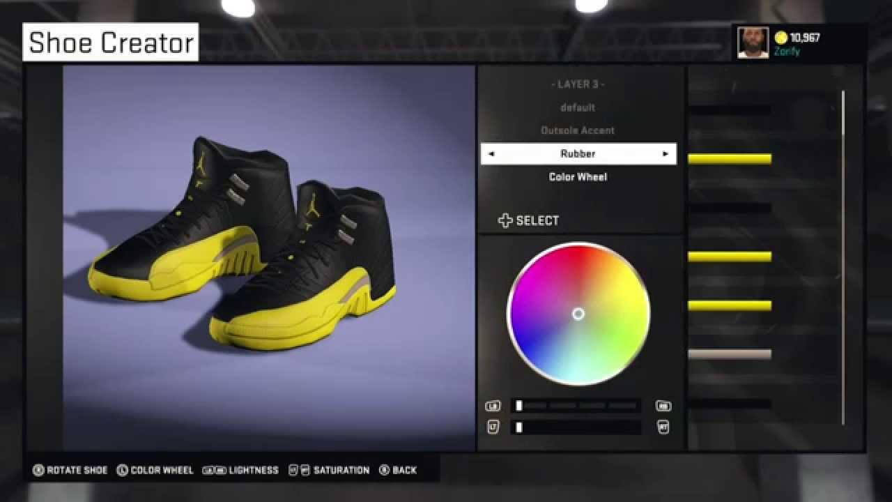 NBA 2K15 Shoe Creator - Air Jordan 12