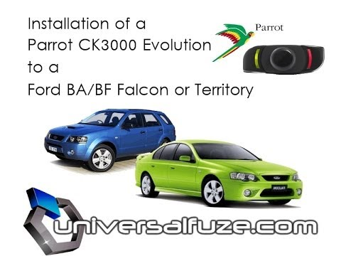 Parrot Ck3000 Plug And Play Installation Into Ford Territory Or Ba Bf Falcon