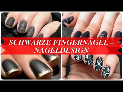 Schwarze fingernägel – nageldesign