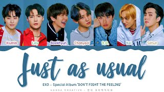 EXO - 'Just as usual' Lyrics Color Coded (Han/Rom/Eng) | @Hansa Game