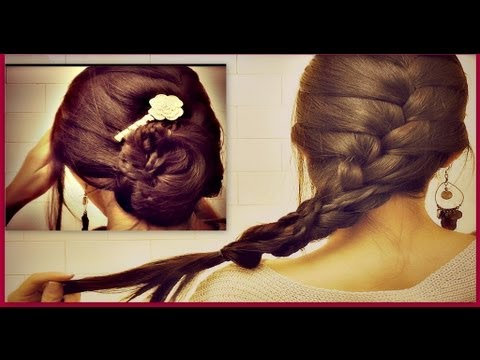 ★-how-to:-french-braid-your-own-hair-tutorial|-romantic-updo-bun-hairstyles-for-medium-long-hair