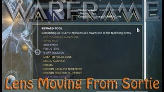 Warframe - Focus Lens Moving From Sortie