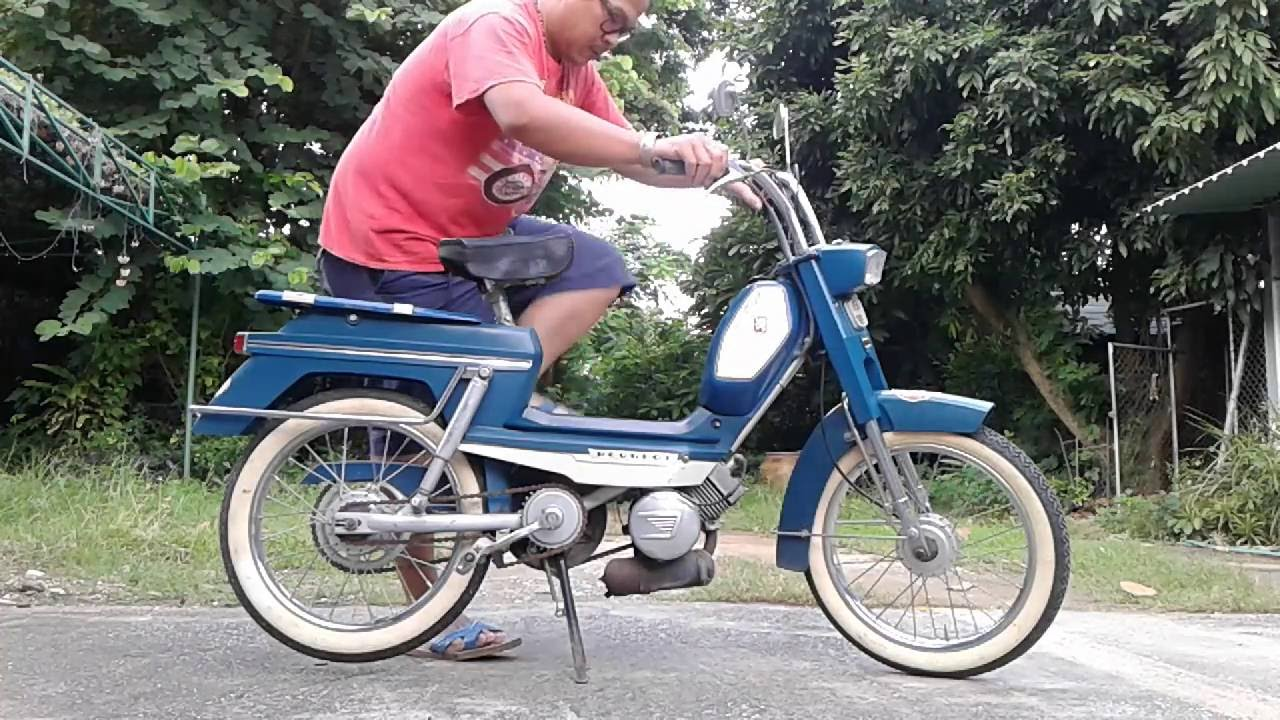 test ride peugeot moped 1970 model 104 lampang very cool youtube. Black Bedroom Furniture Sets. Home Design Ideas