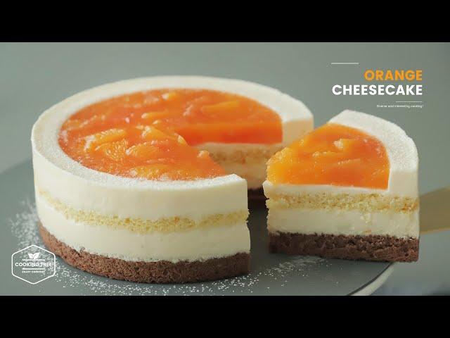 상큼함에 퐁당~ღᴗღ 오렌지 치즈케이크 만들기 : Orange Cheesecake Recipe | Cooking tree
