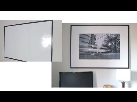 How To Make A Picture Frame Covered Whiteboard Youtube