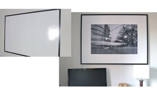 How to make a picture frame covered whiteboard