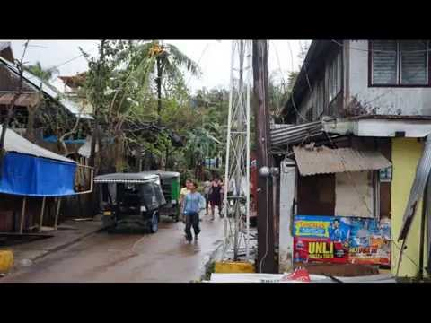 Coron Town damaged by Typhoon Yolanda