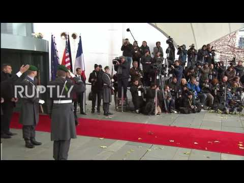 Germany: Merkel greets US, EU leaders to discuss transatlantic ties after Trump