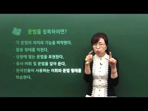 [TOPIK II 3,4급 문법] OT(The TOPIK II (L3,L4) Grammar Course)