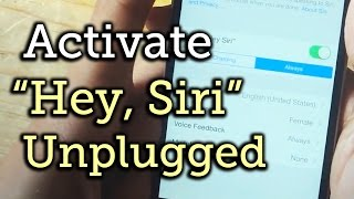 "Use the ""Hey Siri"" Voice Command Without Connecting to Power - iPhone / iOS 8 [How-To]"