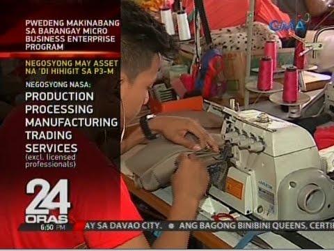 Maliliit na negosyo, prayoridad ng barangay micro-business enterprise program ng gobyerno