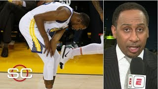Kevin Durant's injury looked like more than a 'calf strain' - Stephen A. | SportsCenter