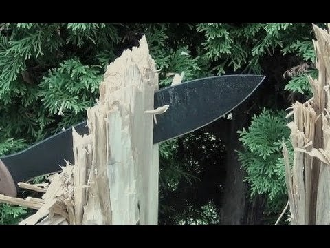TOPS Power Eagle Bolo Knife Machete Review Travel Video