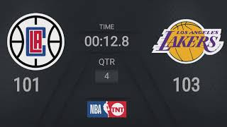 Clippers @ <b>Lakers</b> | NBA on TNT Live Scoreboard #WholeNewGame