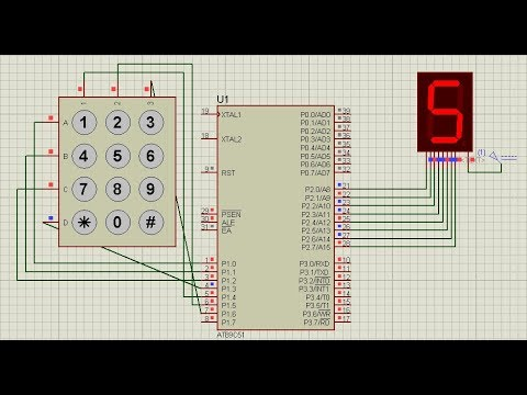 Keypad interface with 8051 and displaying numbers in 7 segment