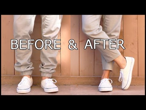 HOW-TO TAPER AND CROP A PAIR OF PANTS I MEN'S FASHION