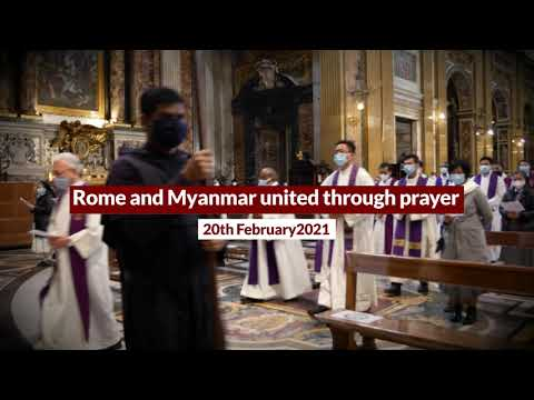 Rome: Jesuits from Myanmar praying for their country