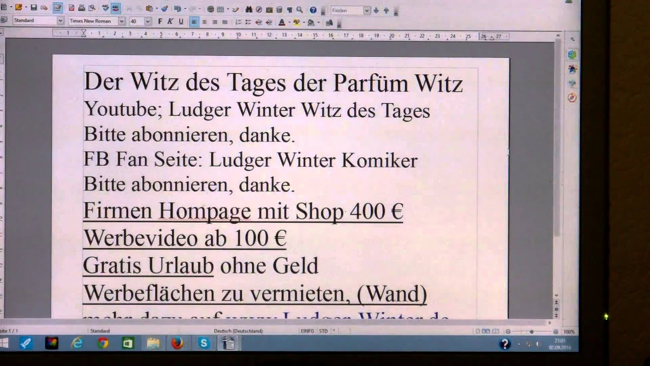 134 Ludger Winter Witz Des Tages Der Parfum Witz Youtube