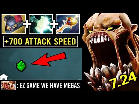 CRAZY Pirate Hat + Rapier LS vs Apex Troll Max Attack Speed Battle Epic Megas Comeback 7.24 Dota 2