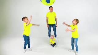 Cinco Crianças - Canção Colorida com Papai e Cinco Crianças