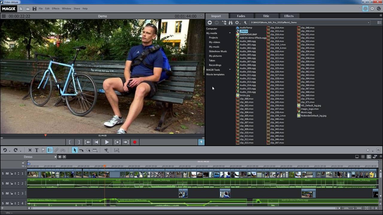 Magix Movie Edit Pro 2016 Display Modes Tutorial Int Youtube