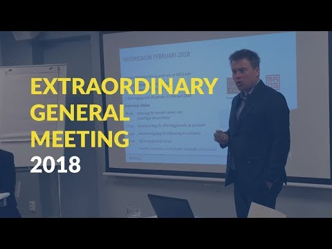 Extraordinary General Meeting 2018