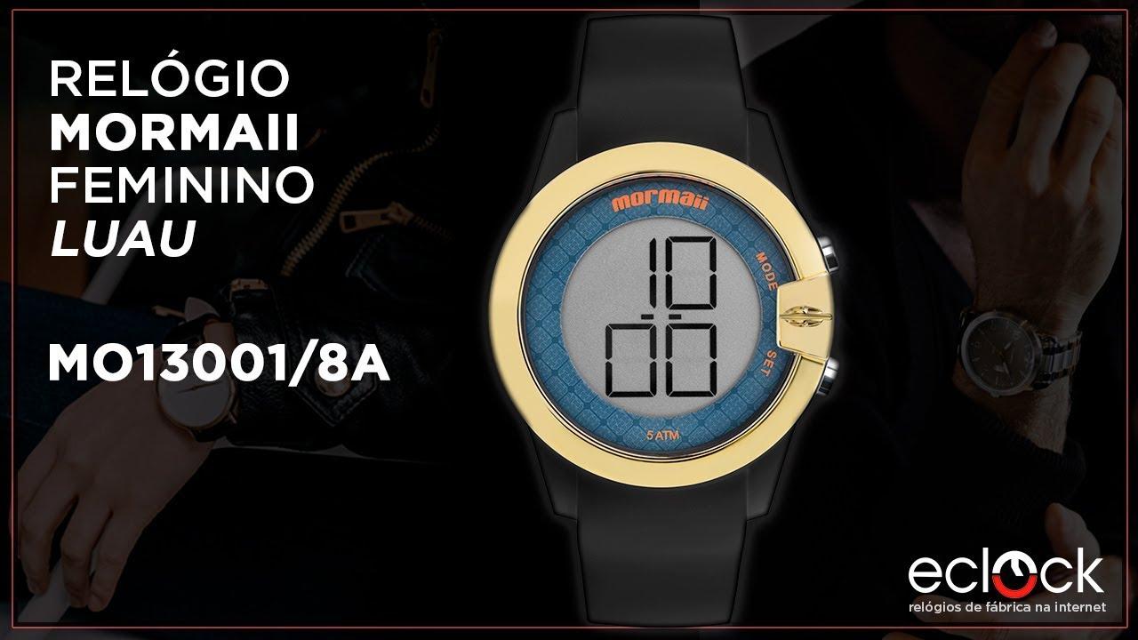 6128762dad74f Relógio Mormaii Feminino Luau MO13001 8A - Eclock - YouTube