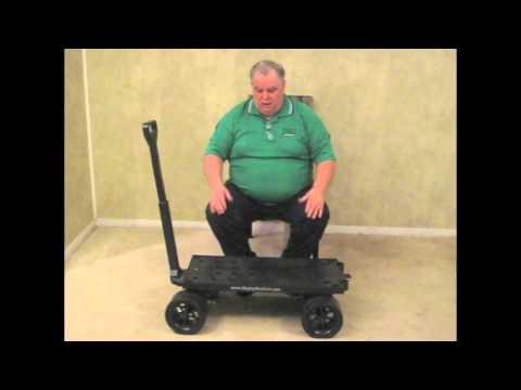 Heavy Duty Flat Bed Garden Dump Cart Wagon Demo Video