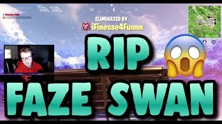 I KILLED FAZE SWAN IN FORTNITE BATTLE ROYALE!! HE SAID I WAS CHEATING?? (both POVs)