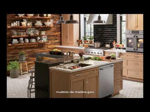 20 Ideas de Cocinas Modernas en Madera R�stica