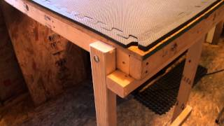 Fold Down, Sliding Air Rifle Shooting Table