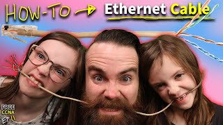 forcing my kids t๐ make Ethernet cables // FREE CCNA // EP 11