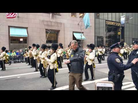 West Milford high school band at the San Patrick day parade 2016