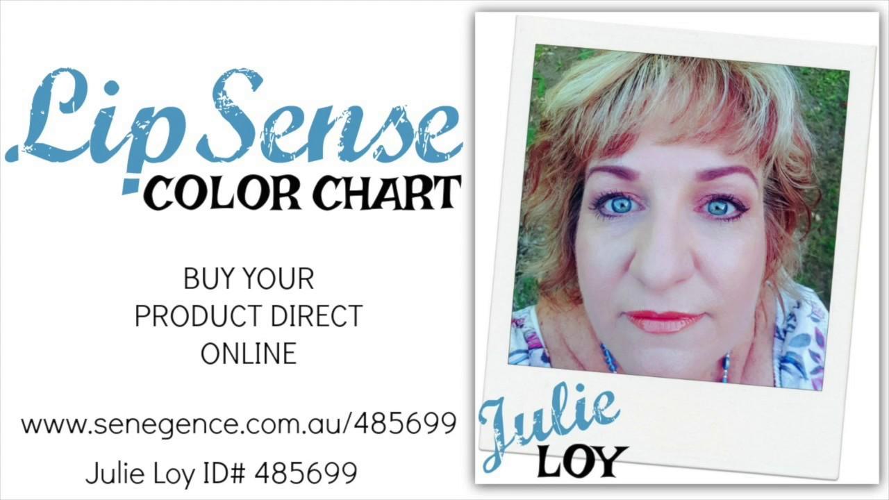 Julie Loy - SeneGence LipSense Color Chart 2018 October