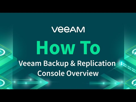 Veeam Backup & Replication – Console Overview